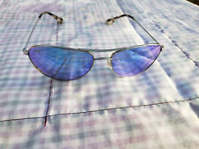 Maui Jim BABY BEACH B245-17 Blue Hawaii Lens Polarized Aviator Sunglasses Silve