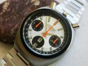 NOS Vintage Citizen  Panda Bullhead Chronograph watch circa 1970..
