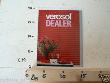 STICKER,DECAL VEROSOL DEALER LARGE