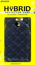 NEW AMZER Slim Fit Printed Hard Shell Case Back Cover for HTC One X10 Gold BLACK