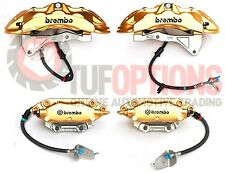 GOLD Ford FGX Brembo 6 Piston FRONT & 4 Piston REAR Caliper & Pad Set