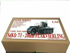 Wespe SdKfz 7/1 FLAKVIERLING 20mm 1:16 half-truck anti-aircraft resin kit 16008