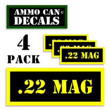 22 MAG Ammo Can Label 4x Ammunition Case stickers decals 4 pack YW MINI 1.5in
