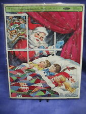 """Whitman 1965 """"The Night Before Christmas Puzzle Tray 14.5"""" x 11.5"""""""