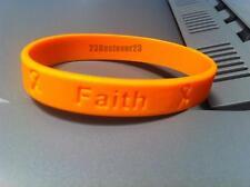 100 Orange MS Multiple Sclerosis Awareness Silicone Bracelets ADULT Wristband