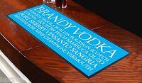 SPIRIT BUSBLIND Azul Toalla de Bar Ideal Para El Hogar Cocktail Fiestas Pub