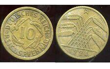 ALLEMAGNE 10  reichspfennig  1924 A  ( bis )