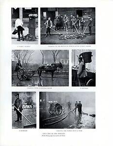 1909 Aufdruck ~ Pflege Der Streets ~Squeegee Dustman~ London IN 19th Century