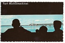 View from INSIDE FORT MICHILIMACKINAC Mackinaw City  Michigan MI POSTCARD