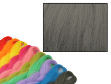 CYBERLOXSHOP PHANTASIA KANEKALON JUMBO BRAID BLACK OLIVE GREY HAIR DREADS