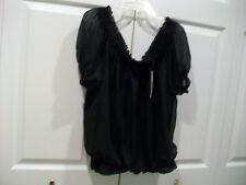 Guess NWT Womens Off-The-Shoulder Blouse Black SZ M