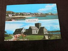 Old 1990 Postcard, Isle of Iona, 2 Views
