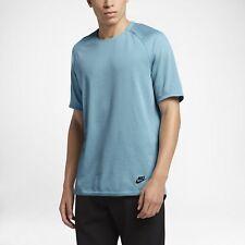 Nike Men's Sportswear Bonded Short Sleeve Top Blue Size XL 832208 408 NEW