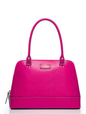 Kate Spade LARGE Rachelle Wellesley SWEETHEART PINK LEATHER Satchel Handbag $428