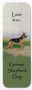 GERMAN SHEPHERD DOG GSD BEAUTIFUL DOG BOOKMARK SAME IMAGE BOTH SIDES GREAT GIFT