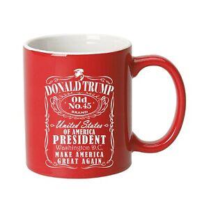 Trump 2020 Vintage Flag Ceramic Coffee Mug (Old No.45)