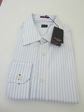 Paul Smith Londres Camisa de manga larga azul rayas - Talla 16.5/42 - P2P 57.1cm