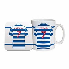Personalised Queens Park Rangers FC MUG and COASTER Set Football Club QPR