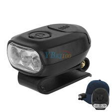 LED Clip On  Head Lamp  Hat Light Torch For Outdoor Fishing Hunting Camping