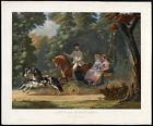 Antique Print-HORSE-PONY-COACH-CHEVAUX ET VOITURES-NEW YORK-PARIS-Montpezat-1859