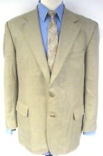 Stafford Options Beige Sport Coat Jacket Two Button Pinstripe Check Size 42R