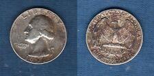 Etats Unis USA United States - Washington Quarter Dollar 1954 Silver Argent