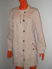 YSL YVES SAINT LAURENT Trench Cappotto 46 Spolverino Parka Cotone Beige NEW