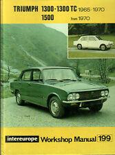 Triumph 1300-1300TC TC 1965-1970 Workshop Manual Book Guide 1500 From 1970 65 70