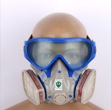 Protection Masque Respiratoire Visière Lunettes Respirateur Anti-poussière Gaz_