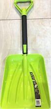 """Suncast Steel Core Snow/Sand Shovel Pusher 11"""" Shovel - Lime Green - NEW"""