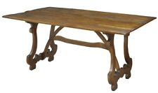 "63"" Dorotea Dining Table Solid Walnut Old Reclaimed Wood Rustic"