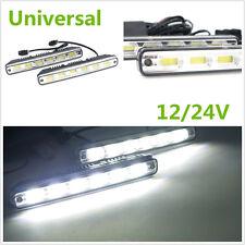 2PCS Universal White Fog Led Lamp 12V/24V COB LED Car Daytime Running Light DRL