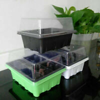 12 Cell/set Seedling Starter Tray Seed Germination Plant Propagation Garden Tool