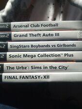 Playstation 2 games bundle UK PAL Sonic Collection Plus Final Fantasy XII GTA 3