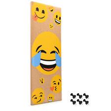 Korkwand Emoji Smiley Pinnwand Kork 25x60cm Pinboard Korkwand Pinwand 6 Pins