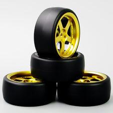 4Pcs 62.5mm Drift Tires&Wheel Rim 12mm Hex D5G for HSP HPI RC 1:10 On-Road Car