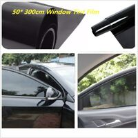 50* 300cm Car Auto Home Window Glass Tint Film Roll Tinting Styling Shade Black