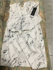 SHONA JOY Pleat Hem Bustier Dress - Marble Size 12
