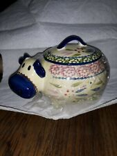 Temptations By Tara Old World Blue Cow Soup Bowl w/ Lid 16 oz.
