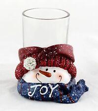 Joy Top Hat Snowman Ceramic Votive Holder Yankee Candle NEW christmas holiday