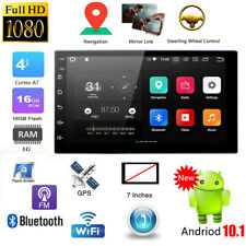"7"" Double Din Car Stereo Radio Android 10.1 MP5 Player WiFi GPS FM USB Bluetooth"