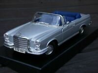 Rare 1966 Mercedes Benz 280SE W111 Silver Cabrio Coupe 1:18 Toy Collectible Car