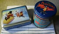 Planters Collectible Tins- Holiday Scene & 1989 Pennant Mixed Nut Tin- VGC