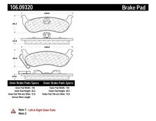 Disc Brake Pad Set Rear Centric 106.09320