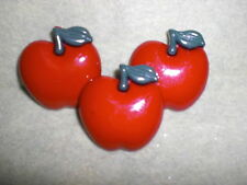 Big RED APPLE Novelty Theme Buttons - Buttons Galore - All Crafts