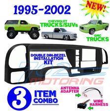1995 -2002 SILVERADO GMC SIERRA CAR STEREO RADIO DOUBLE DIN INSTALL  DASH KIT