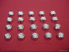"""20 PACK 1/4"""" CHROME SKULL TOP ALLEN BOLT COVERS TOPPERS FOR HARLEY BOLTS HOT"""
