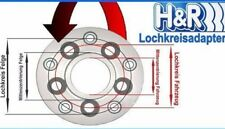 H&R Hole circle adapters 0 3/16x3 7/8in/60,1 on RIM 0 3/16x4 1/2in/67,1 2in NEW
