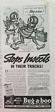 1937 Bug-a-boo Insecticide Stops Insects Oriignal Ad AS IS