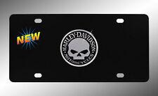 Harley-Davidson Willie G Decorative Vanity Stainless BLACK  License Plate   NEW